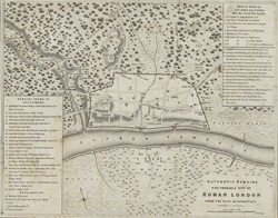 AUTHENTIC REMAINS AND PROBABLE SITE OF ROMAN LONDON FROM THE BEST AUTHORITIES